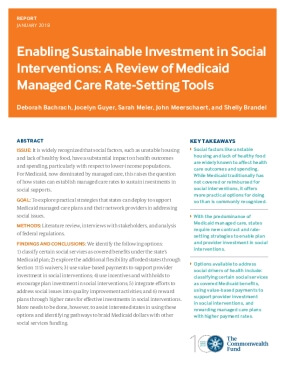 Enabling Sustainable Investment in Social Interventions: A Review of Medicaid Managed Care Rate-Setting Tools
