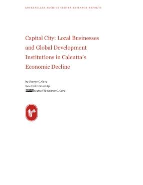 Capital City: Local Businesses and Global Development Institutions in Calcutta's Economic Decline
