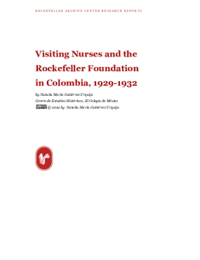 Visiting Nurses and the Rockefeller Foundation in Colombia, 1929-1932