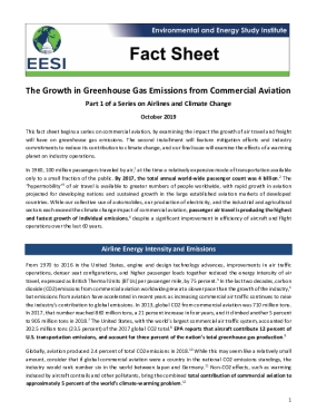 Fact Sheet: The Growth in Greenhouse Gas Emissions from Commercial Aviation