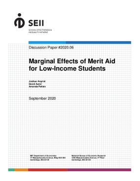 Marginal Effects of Merit Aid for Low-Income Students