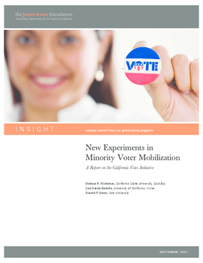 New Experiments in Minority Voter Mobilization: A Report on the California Votes Initiative